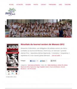 Sucy Judo sur tablette