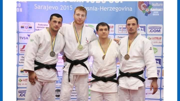 Axel Clerget à la coupe d'Europe de Sarajevo 2015 - Crédit : European Judo Union